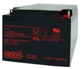 Аккумуляторная батарея WBR GP 12260 (12V-26Ah)