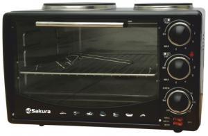 Настольная духовка с плитками Sakura SA-7014HBK