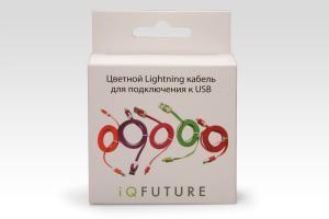 Цветной Lightning кабель iOS8 для подключения к USB. Подходит для Apple iPhone 6 Plus, iPhone 6, iPad 4, iPad min. ОРАНЖЕВЫЙ