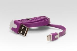 Цветной Lightning кабель iOS8 для подключения к USB. Подходит для Apple iPhone 6 Plus, iPhone 6, iPad 4, iPad min. ФИОЛЕТОВЫЙ