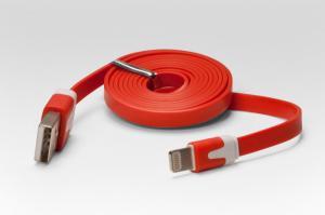 Цветной Lightning кабель iOS8 для подключения к USB. Подходит для Apple iPhone 6 Plus, iPhone 6, Phone 5, iPad 4, iPad min. КРАСНЫЙ